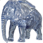 3D Crystal Puzzle - Elephant