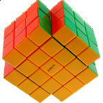 Calvin's 3x3x5 X-Shaped-Cube with Evgeniy logo - Stickerless
