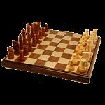 Chess Set - 11 inch Walnut Finish (Magnetic, Folding)