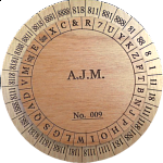 Union Army Cipher Disk