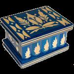 Romanian Puzzle Box - Small Blue