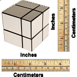 Mirror 2x2x2 Cube - Black Body with Silver Labels