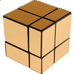 Mirror 2x2x2 Cube - Black Body with Gold Labels