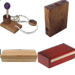 .Level 5 and 6 - a set of 4 wood puzzles