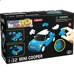 3D Puzzle Cars - Mini Cooper (Blue)