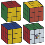 Rubik's Cube Coasters - Set of 4