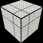 V-CUBE 3 Flat (3x3x3): V-udoku Cube