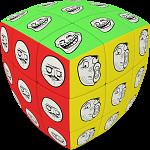 V-CUBE 3 Pillow (3x3x3): Meme Cube