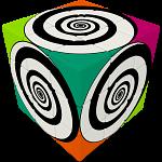 V-CUBE 3 Flat (3x3x3): Funky Spirals