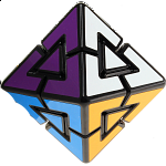 Pyraminx Diamond - 8 Colors - Black Body