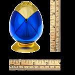 Metalised Egg 2x2x2 - Blue & Gold