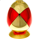 Metalised Egg 2x2x2 - Red & Gold Checker