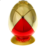 Metalised Egg 2x2x2 - Red Bottom / Gold Top