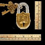 Brass Small Figure Padlock - Regular Lock