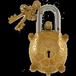 Brass Tortoise Trick Puzzle Padlock