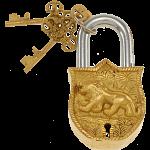 Brass Puzzle Trick Padlock - Lion