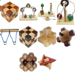 .Level 8 - a set of 11 wood puzzles