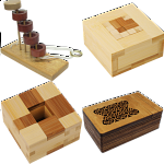 .Level 10 - a set of 4 wood puzzles