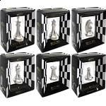 Silver Color Chess Puzzle Set - 6 pieces
