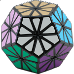 New Improved 12 color Pyraminx Crystal - Black body