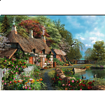 Cottage on a Lake - Large Piece Format