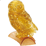 3D Crystal Puzzle - Owl (Brown)
