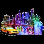 Silhouette Puzzle - Skyline, New York