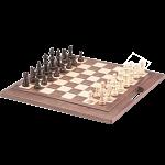 Classic Folding Chess Set - 16 inch Walnut with Handle
