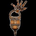 5 Key Iron Puzzle Lock