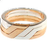 4 Band - Silver & Bronze Puzzle Ring