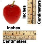 Magnetic Apple Puzzle - Red