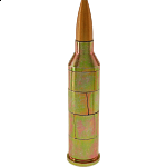 Magnetic .50 Caliber Bullet Puzzle - Gold (Realistic)