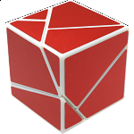 limCube Ghost Cube 2x2x2 - White Body with Red labels