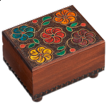 Wooden Floral Puzzle Box