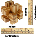 Bamboo Wood Puzzle - Cross Roads