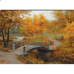 Autumn In An Old Park - Eugene Lushpin