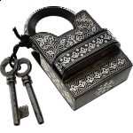 9 Step Extreme - 2 Key Puzzle Lock - With Silver Design