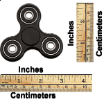 Hand Tri Spinner Anti-Stress Fidget Toy - Black