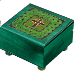 Green Celtic Puzzle Box