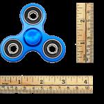 Metal Hand Tri Spinner Anti-Stress Fidget Toy - Blue