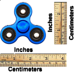 Metal Hand Tri Spinner Anti-Stress Fidget Toy - Blue