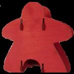 Knockdown Meeple Dice Tower - Red