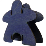 Knockdown Meeple Dice Tower - Blue