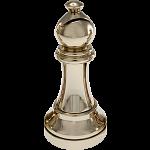Silver Color Chess Piece - Bishop