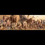 Dinosaurs: Panoramic Puzzle