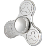 Metal Tri Spinner Anti-Stress Fidget Toy - Silver Design