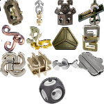 .Level 7 - a set of 14 Hanayama puzzles