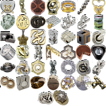Levels 4-6: a set of 43 Hanayama Metal Puzzles