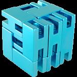 Line Cube - Blue