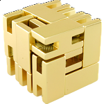 Line Cube - Gold